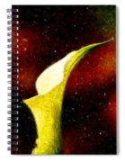 Lily On Red Spiral Notebook