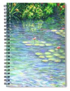 Lily Pads Triptych Panel Three Of Three Spiral Notebook