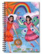 Lily Pond Fairies Spiral Notebook