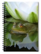Lilyfrog - Frog With Water Lily Spiral Notebook