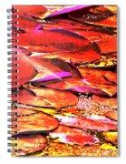 Crimson Lilypads Floating.. Spiral Notebook