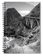 Lime Creek Bridge Highway 1 Big Sur Ca B And W Spiral Notebook