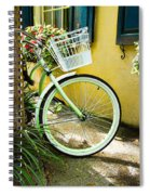 Lime Green Bike Spiral Notebook
