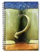 Lime Green Cups Spiral Notebook