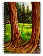 Lime Meadow Spiral Notebook