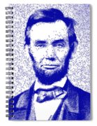 Lincoln Abstract Blue Spiral Notebook