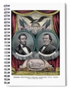 Lincoln And Johnson Election Banner 1864 Spiral Notebook