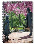 Lincoln-bedell Statue Westfield  Spiral Notebook