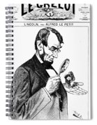 Lincoln Cartoon, 1873 Spiral Notebook