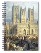 Lincoln Cathedral From The North West Spiral Notebook