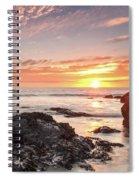 Lincoln City Beach Sunset - Oregon Coast Spiral Notebook