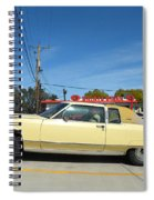 Lincoln Continental At Brint's Diner Spiral Notebook