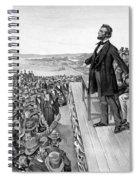 Lincoln Delivering The Gettysburg Address Spiral Notebook