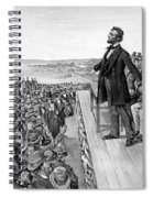 Lincoln Delivering The Gettysburg Address Spiral Notebook