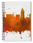 Lincoln Nebraska Colorful Skyline Spiral Notebook