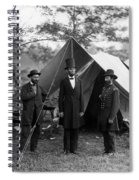 Lincoln With Allan Pinkerton - Battle Of Antietam - 1862 Spiral Notebook