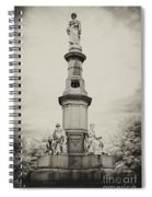 Lincolns Gettysburg Address Site - Toned Spiral Notebook