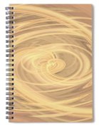 Line Art In Gold And Yellow Spiral Notebook