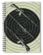 Line Art Rifle Range Spiral Notebook