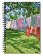 Line Dry - Laundry Spiral Notebook