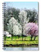 Line Of Flowering Trees Spiral Notebook