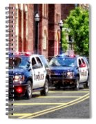 Line Of Police Cars Spiral Notebook