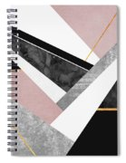 Lines And Layers Spiral Notebook