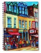 Lineup For Smoked Meat Sandwiches Spiral Notebook