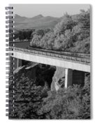Linn Cove Viaduct Black And White Spiral Notebook