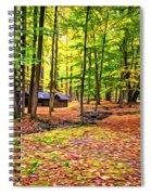 Linn Run Pennsylvania 2 - Paint Spiral Notebook