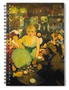L'interieur De Chez Bruant. Le Mirliton Spiral Notebook