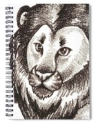 Lion And Yearling Spiral Notebook