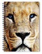 Lion Art - Blue Eyed King Spiral Notebook