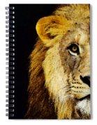 Lion Art - Face Off Spiral Notebook