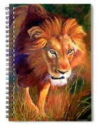Lion At Sunset Spiral Notebook