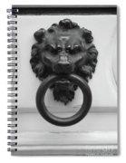 Lion Door Knocker In Brussels Spiral Notebook