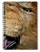 Lion Fractal Spiral Notebook