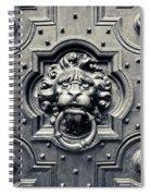 Lion Head Door Knocker Spiral Notebook