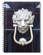 Lion Head Door Knocker Spiral Notebook