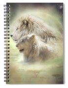 Lion Moon Spiral Notebook