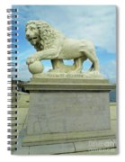 Lion On The North Side Spiral Notebook