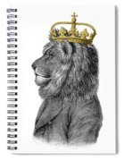 Lion The King Of The Jungle Spiral Notebook