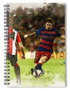 Lionel Messi Challenges The Athletic Bilbao Defense Spiral Notebook