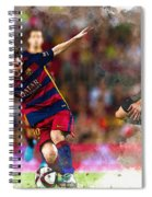 Lionel Messi  Fights For The Ball Spiral Notebook