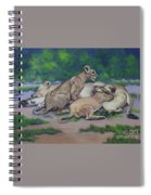 Lioness With Cubs Spiral Notebook