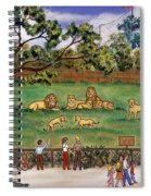 Lions At The Zoo Spiral Notebook