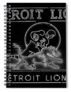 Lions Football Spiral Notebook