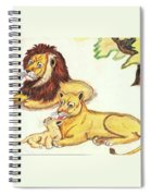 Lions Of The Tree Spiral Notebook