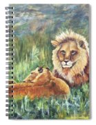 Lions Resting Spiral Notebook