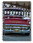Lipstick Red At The Gate Spiral Notebook